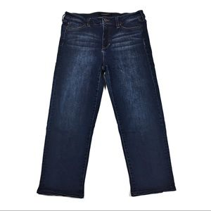 Liverpool Dark Wash Cropped Jeans Size 10/30